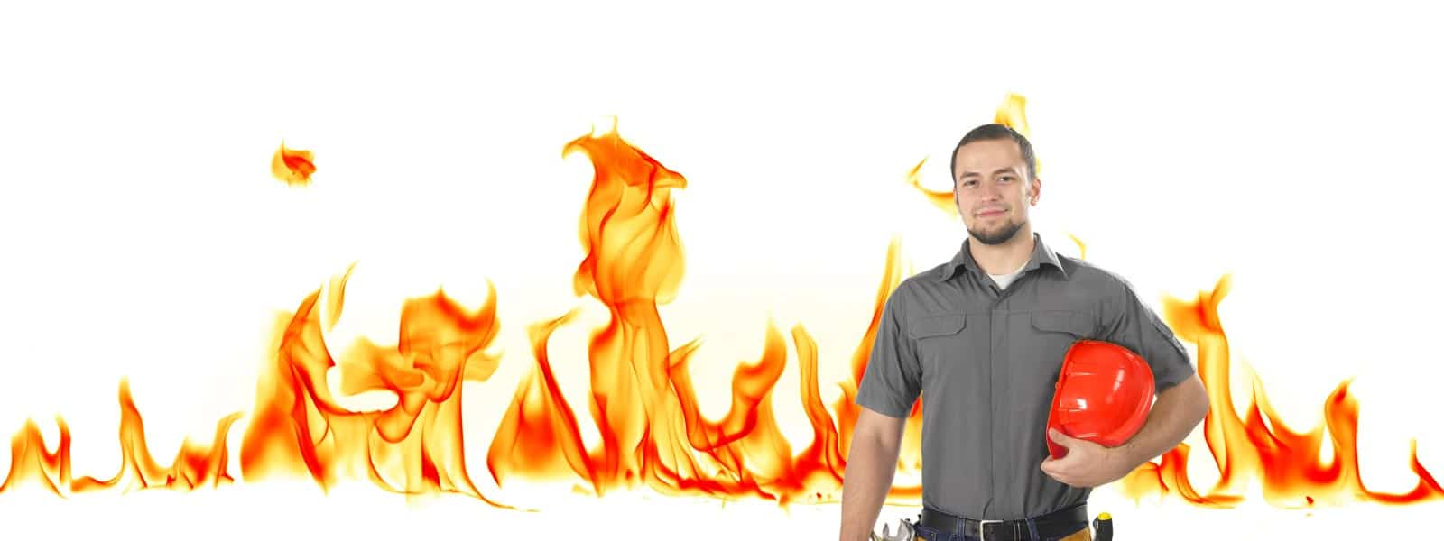 Brandveilig-Nederland medewerker voor vlammen achtergrond