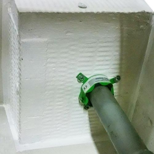 PVC leiding met brandwerende box