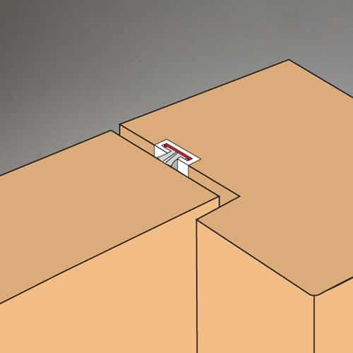 montage voorbeeld brandwerende deurstrip met rubber