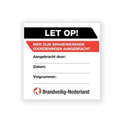applicatie label brandwerende doorvoer rapportage