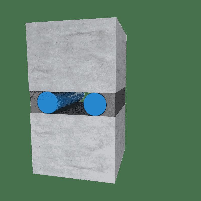 pyrolastic toegepast in muur