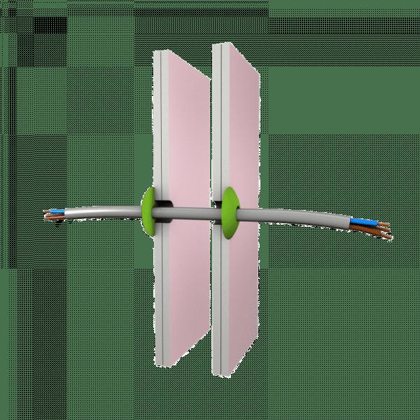 penopad op gipswand rond kabel