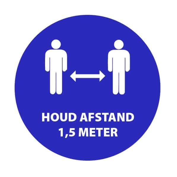 Houd afstand 1,5 meter