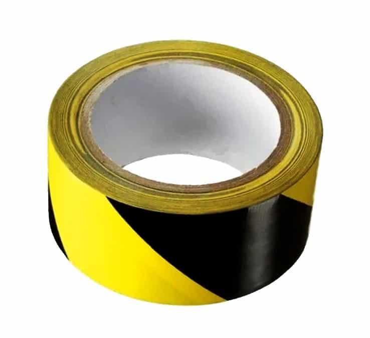zwart geel gestreepte tape