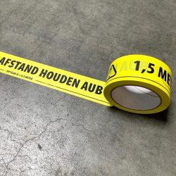 gele 1,5 meterafstand houden tape