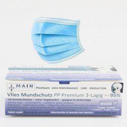 3 laags mondmasker en doos