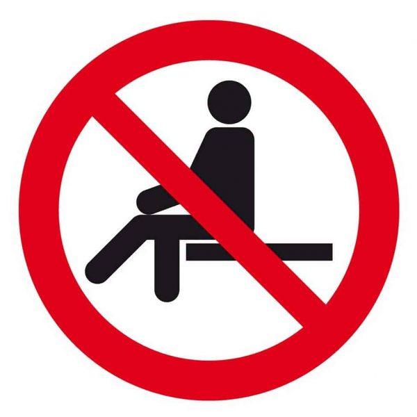 Rode sticker geen zitplaats